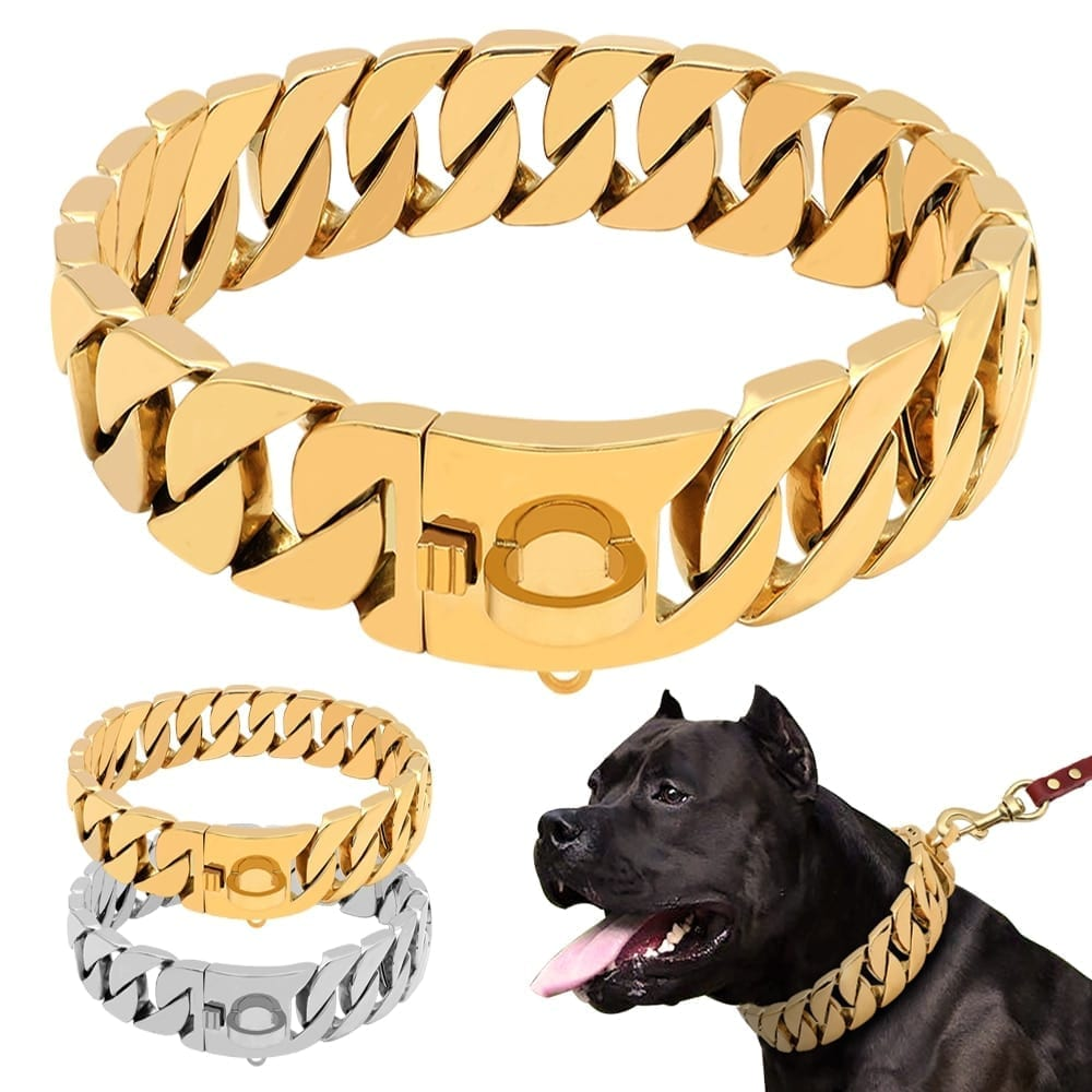 Stainless Steel Dog Chain Collars