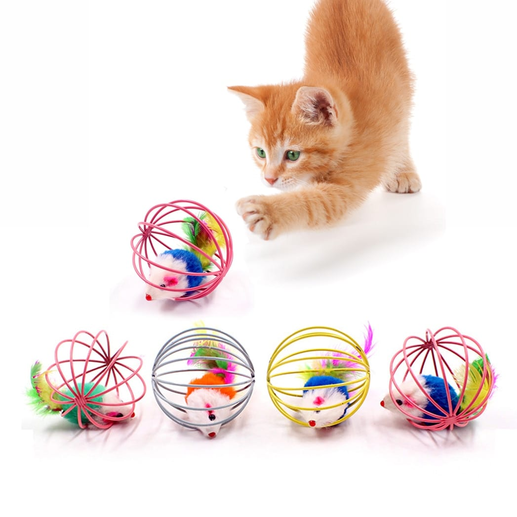 Stick Feather With Bell Mouse Toys