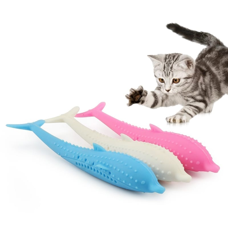 Soft Silicone Catnip Fish Toy
