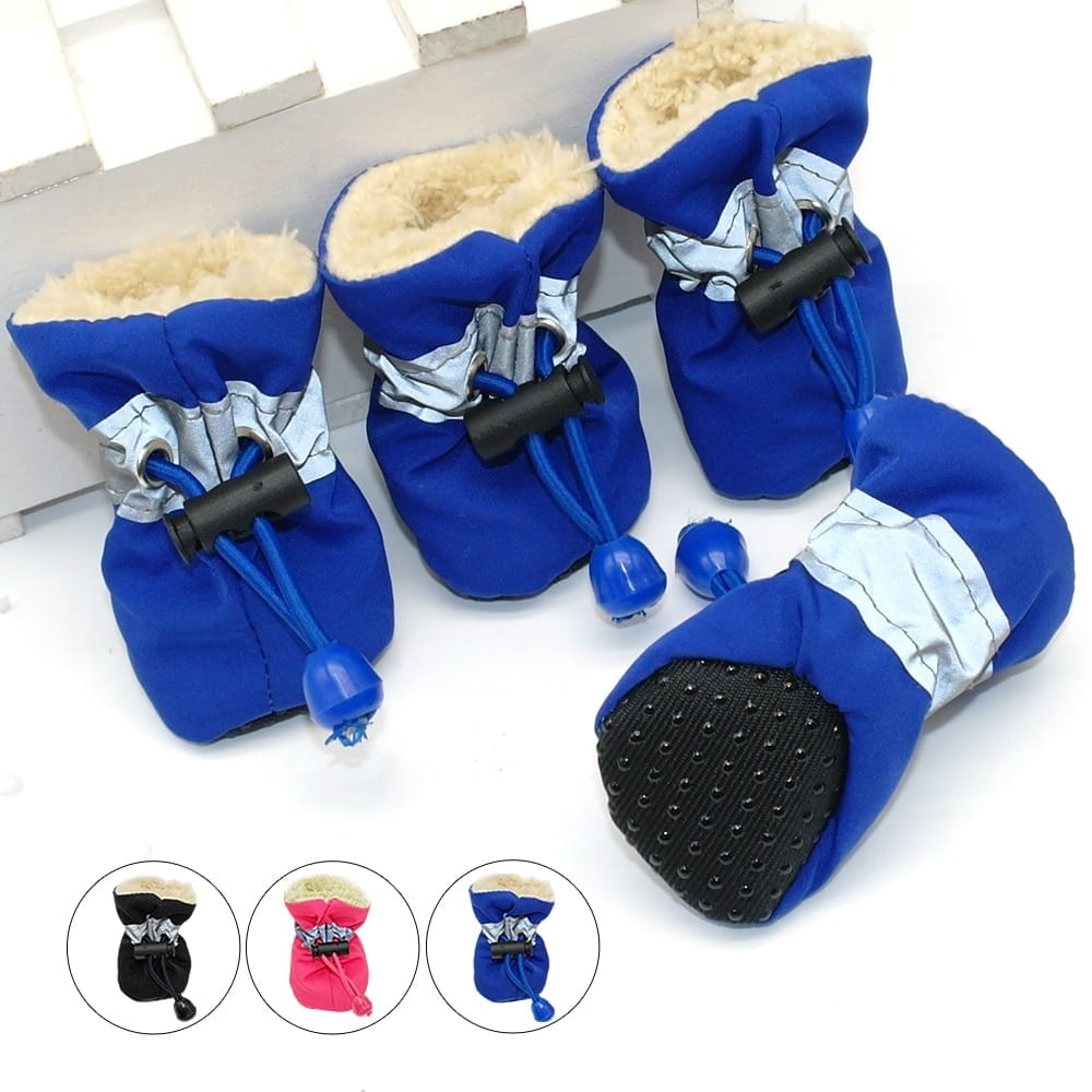 Waterproof Winter Shoes for Small Dogs and Puppies Set