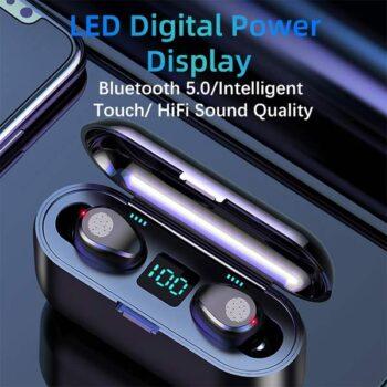 F9 TWS Bluetooth 5.0 Wireless Earbuds