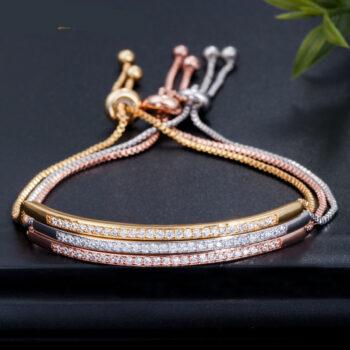Adjustable Stackable Cubic Zirconia Delicate Bracelet