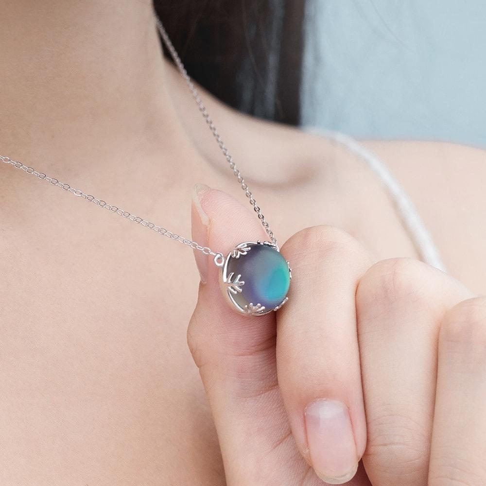 Aurora Borealis Halo Crystal Necklace