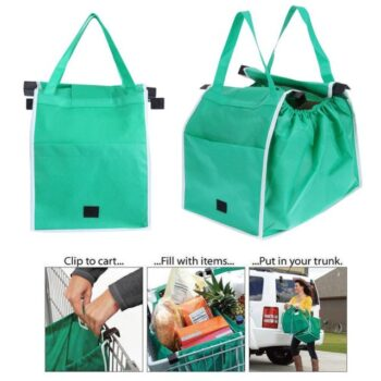 Clip-To-Cart Foldable Shopping Handbags