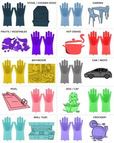 Magic Silicone Washing Sponge Gloves