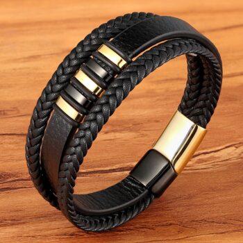 Stylish Genuine Leather Bracelets For Men